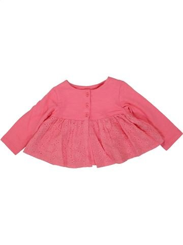 T-shirt manches longues fille F&F BABY rose 6 mois hiver #1474675_1