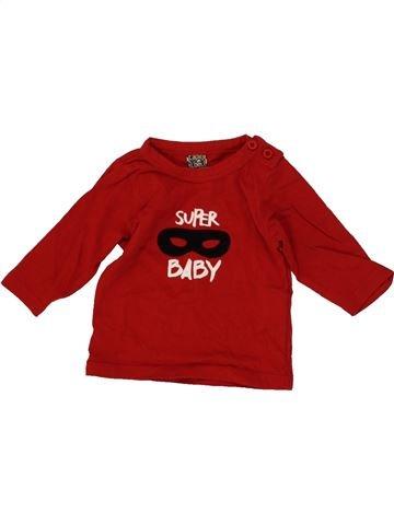 T-shirt manches longues garçon TAPE À L'OEIL rouge 3 mois hiver #1475078_1