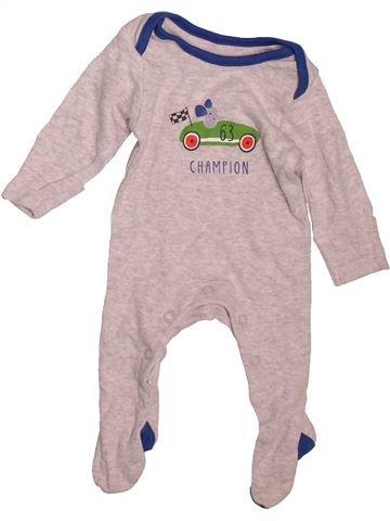 Pijama de 1 pieza niño MARKS & SPENCER gris 0 meses verano #1476054_1