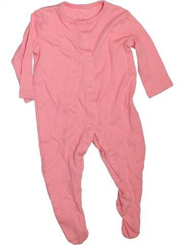 Pyjama 1 pièce fille GEORGE rose 6 mois été #1478645_1
