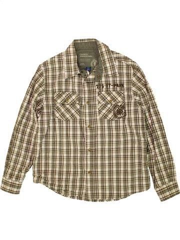Chemise manches longues garçon OKAIDI beige 10 ans hiver #1478985_1