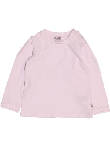 T-shirt manches longues fille KANZ rose 6 mois hiver #1479619_1