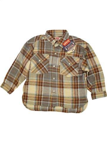 Chemise manches longues garçon LEVI'S marron 4 ans hiver #1479709_1