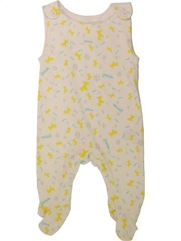 Pijama de 1 pieza niño SANS MARQUE blanco 3 meses verano #1480082_1