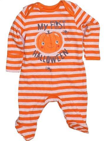 Pijama de 1 pieza unisex GEORGE naranja 1 mes verano #1480311_1