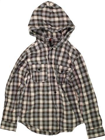 Chemise manches longues garçon FLIPBACK gris 10 ans hiver #1480419_1
