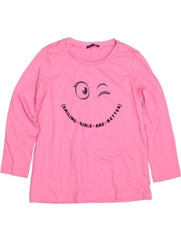 T-shirt manches longues fille ORIGINAL MARINES rose 6 ans hiver #1481141_1