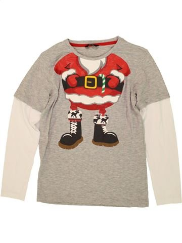 T-shirt manches longues garçon GEORGE gris 11 ans hiver #1481339_1