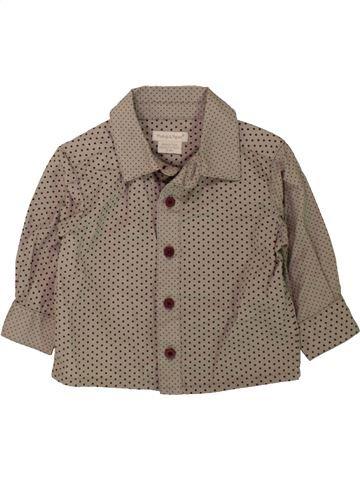 Chemise manches longues garçon MAMAS & PAPAS gris 3 mois hiver #1482870_1