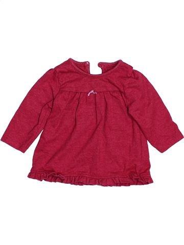 T-shirt col roulé fille GEORGE rouge 3 mois hiver #1483000_1