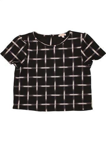 T-shirt manches courtes fille BLUEZOO noir 14 ans été #1483710_1