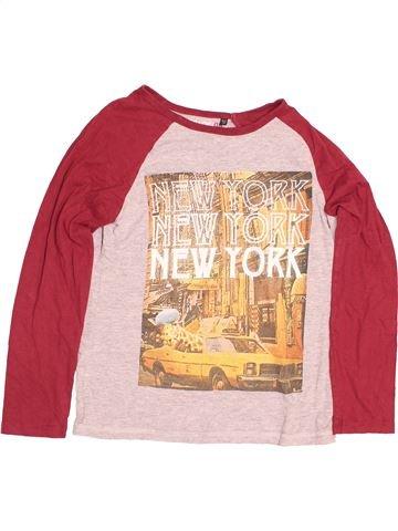 T-shirt manches longues garçon FLIPBACK rouge 11 ans hiver #1484073_1