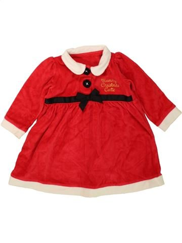 Robe fille GEORGE rouge 12 mois hiver #1484520_1