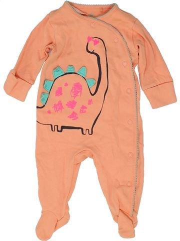 Pyjama 1 pièce fille NEXT orange 3 mois été #1485045_1