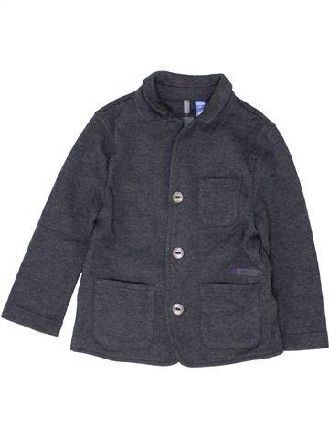 Sweat garçon OKAIDI gris 3 ans hiver #1485401_1