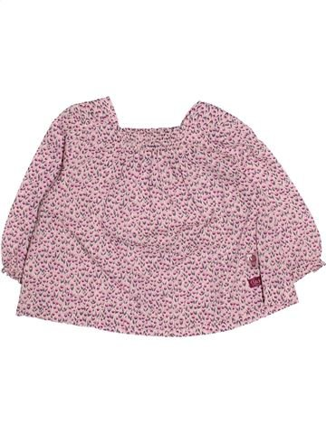 Blouse manches longues fille IKKS rose 12 mois hiver #1485686_1