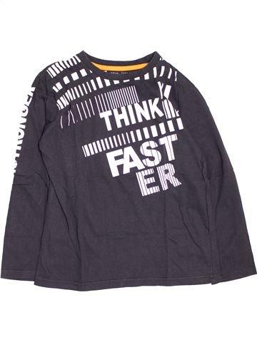 T-shirt manches longues garçon GEMO gris 12 ans hiver #1485849_1