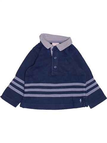 Polo de manga larga niño NATALYS azul 9 meses invierno #1485880_1