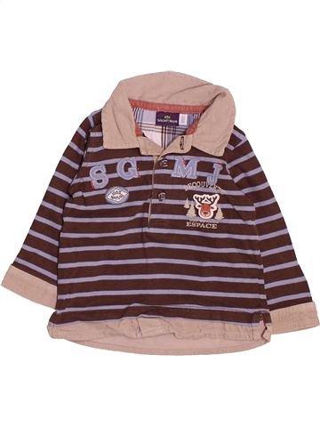 Polo de manga larga niño SERGENT MAJOR marrón 6 meses invierno #1485886_1