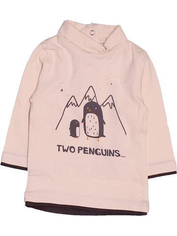 T-shirt col roulé garçon KIABI blanc 3 mois hiver #1485889_1