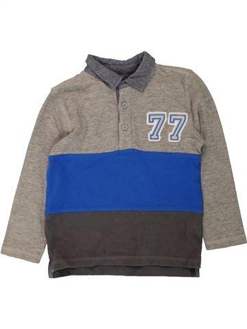 Polo manches longues garçon F&F bleu 5 ans hiver #1486100_1