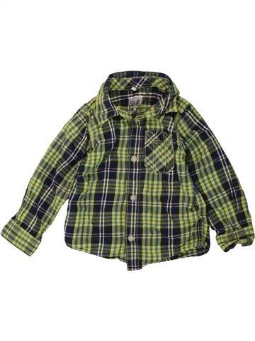 Chemise manches longues garçon NAME IT vert 18 mois hiver #1486133_1