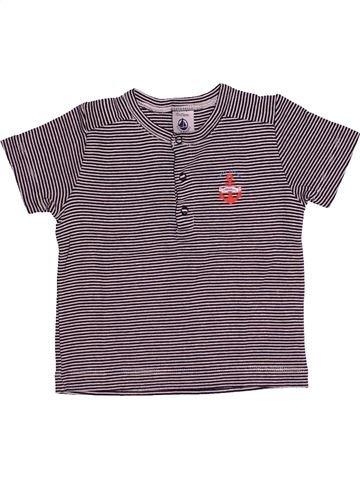 T-shirt manches courtes garçon PETIT BATEAU violet 12 mois été #1486195_1