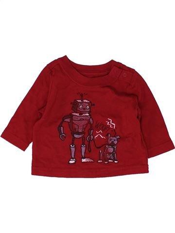 T-shirt manches longues garçon SANS MARQUE violet 3 mois hiver #1486549_1