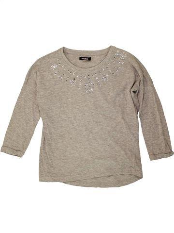 T-shirt manches longues fille PEP&CO gris 9 ans hiver #1486774_1