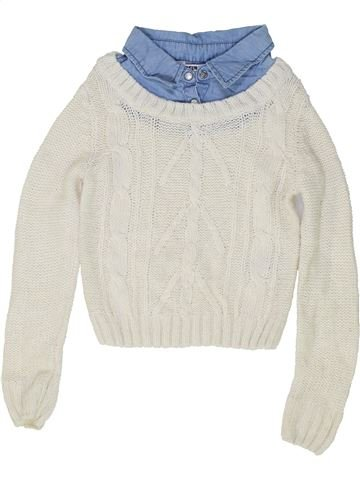 Pull fille NEW LOOK blanc 9 ans hiver #1486860_1