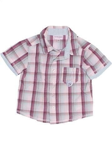 Chemise manches courtes garçon VERTBAUDET blanc 12 mois été #1486943_1