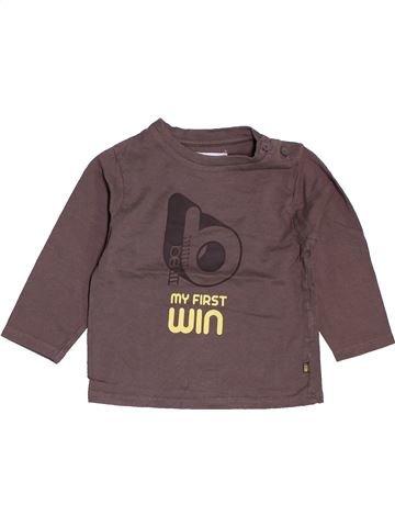 T-shirt manches longues garçon OBAIBI gris 12 mois hiver #1487017_1