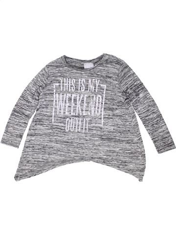 Pull fille I LOVE GIRLSWEAR gris 7 ans hiver #1487376_1