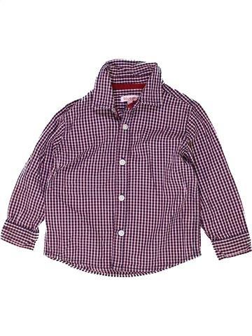 Chemise manches longues garçon BLUEZOO violet 3 ans hiver #1487625_1