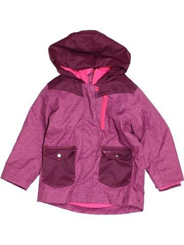Anorak-Trinchera niña QUECHUA rosa 3 años verano #1487822_1