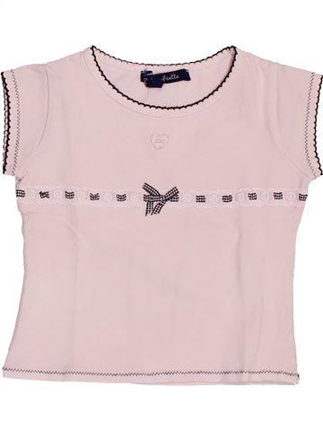 T-shirt manches courtes fille LILI GAUFRETTE violet 2 ans été #1487947_1
