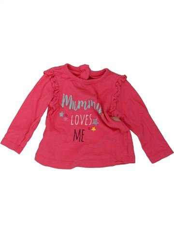 T-shirt manches longues fille DUNNES STORES rose 3 mois hiver #1488239_1