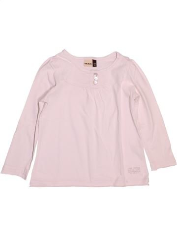 T-shirt manches longues fille IKKS rose 3 ans hiver #1488303_1