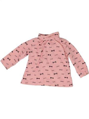 Camiseta de cuello alto niña LA REDOUTE CRÉATION rosa 9 meses invierno #1488365_1