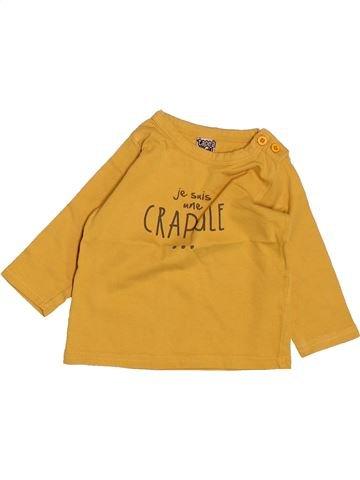 T-shirt manches longues garçon TAPE À L'OEIL jaune 6 mois hiver #1488466_1