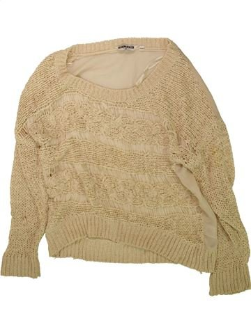 Pull fille NEW LOOK beige 13 ans hiver #1488753_1
