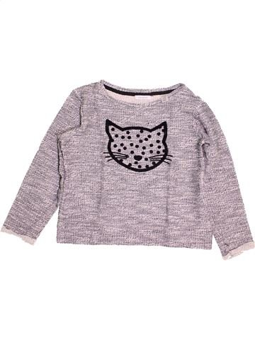 Pull fille OKAIDI gris 10 ans hiver #1489169_1