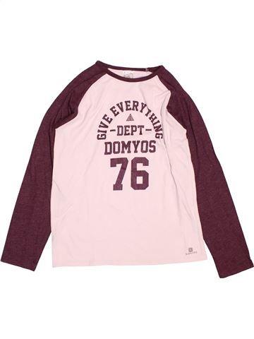 Camiseta de manga larga niña DOMYOS rosa 10 años invierno #1489267_1