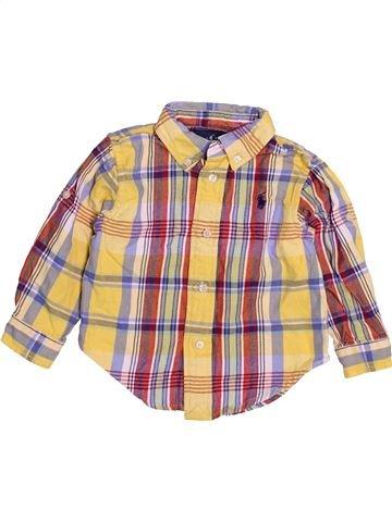 Chemise manches longues garçon RALPH LAUREN beige 12 mois hiver #1489572_1