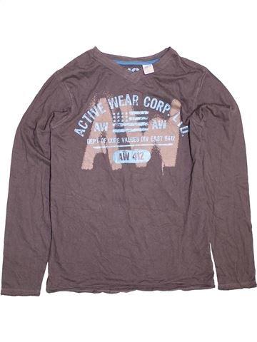 T-shirt manches longues garçon LA REDOUTE CRÉATION gris 16 ans hiver #1489940_1