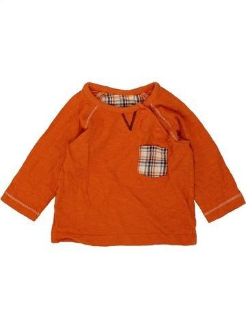 T-shirt manches longues garçon DUNNES STORES orange 3 mois hiver #1490058_1