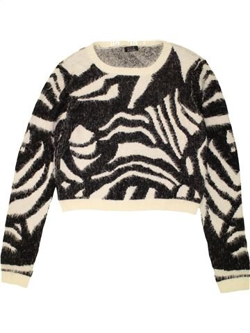 Pull fille KYLIE blanc 13 ans hiver #1490148_1