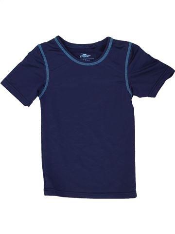T-shirt manches courtes garçon CRANE bleu 8 ans été #1490184_1