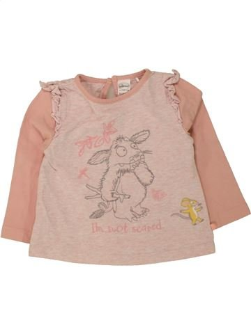 T-shirt manches longues fille THE GRUFFALO rose 12 mois hiver #1490230_1