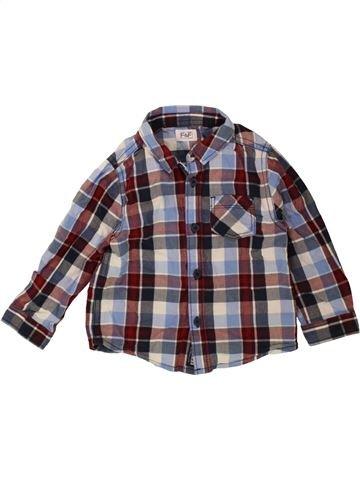 Chemise manches longues garçon F&F marron 12 mois hiver #1490333_1